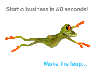 Start a business in 60 seconds! Make the leap...