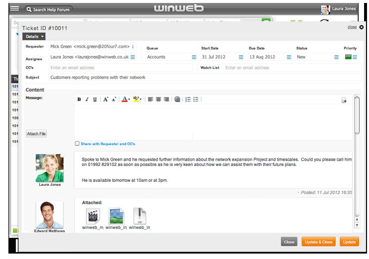 WinWeb | Helpdesk Software   WinWeb Helpdesk