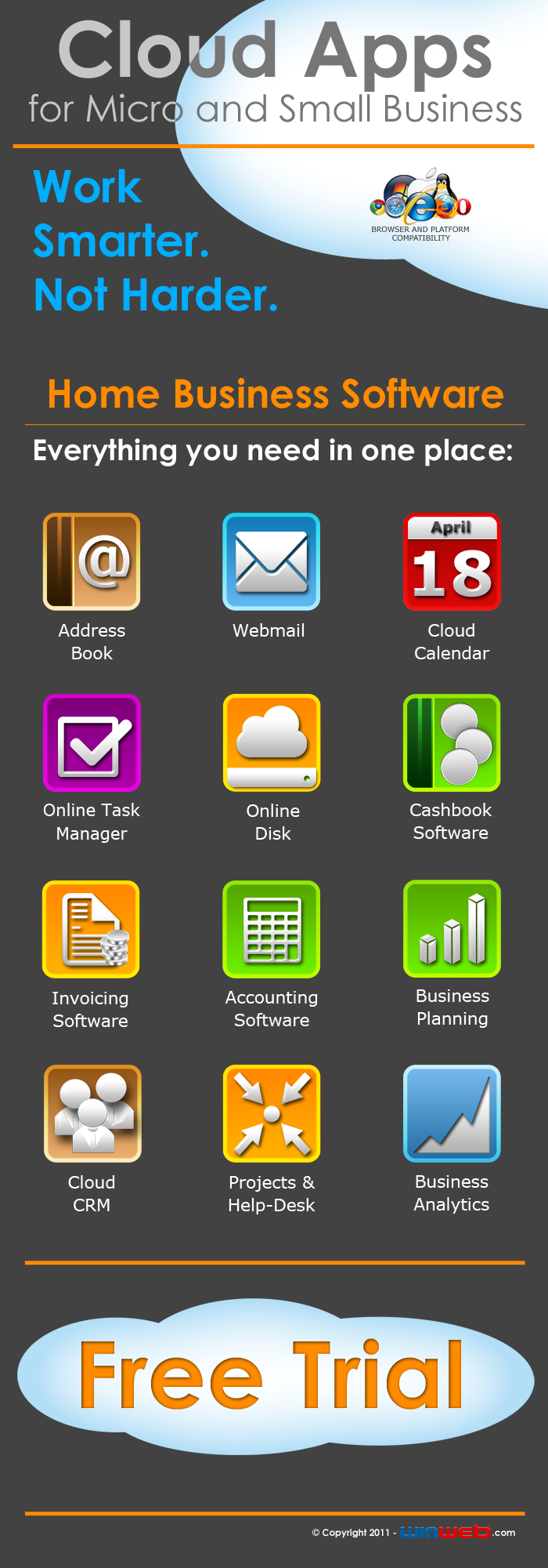 winweb easy online cloud web based home business software app